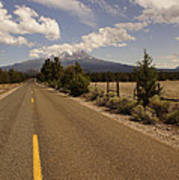 Lonesome Hiway To Shasta Art Print