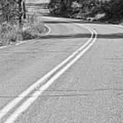 Long And Winding Road Bw Art Print