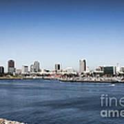 Long Beach Skyline Art Print