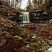 Long Canyon Waterfall Art Print