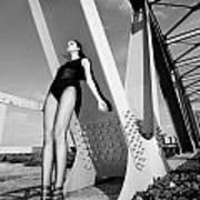 Long Legs On The Bridge  Art Print