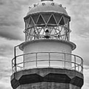 Long Point Lighthouse - Black And White Art Print