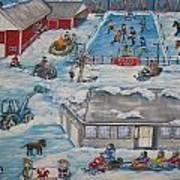 Longshot Farm - Dozois Rink Art Print