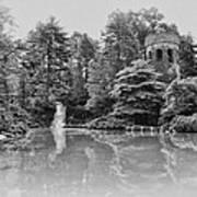 Longwood Gardens Castle In Black And White Art Print