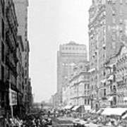 Looking Down State Street - Chicago - C  1897 Art Print