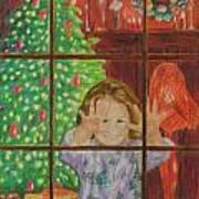 Looking for Santa Art Print