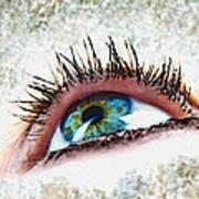 Looking Up Eye Art Art Print