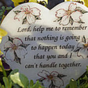Lord Help Me To Remember Art Print