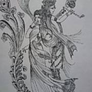 Lord Krishna Art Print by Aditya Sarawagi