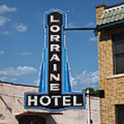 Lorraine Hotel Sign Art Print by Joshua House