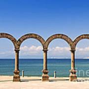 Los Arcos Amphitheater In Puerto Vallarta Art Print by Elena Elisseeva