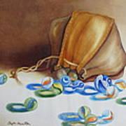 Losing My Marbles II Art Print