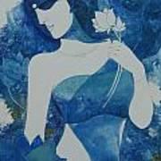Lotus Blues Art Print
