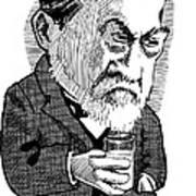 Louis Pasteur, Caricature Art Print