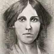 Louisa May Alcott Print by Jack Skinner