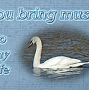 Love - I Love You Greeting Card - Mute Swan Art Print