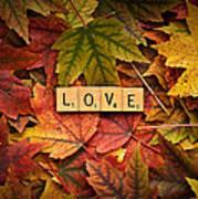 Love-autumn Art Print