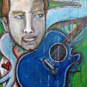 Love For Blue Guitar Art Print