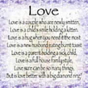 Love Poem In Purple  Art Print