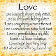 Love Poem In Yellow Art Print