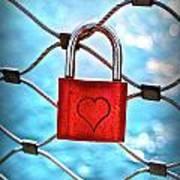 Love Lock And Memories Art Print