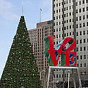 Love Park Philadelphia - Winter Art Print