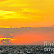 Lovely Sunset Over The Sea Art Print