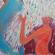 Loving My Angel Art Print by Ana Maria Edulescu
