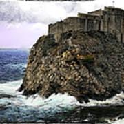 Lovrijenac Tower In Dubrovnik Art Print
