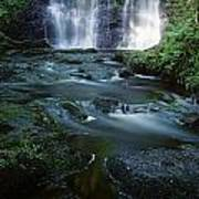Low Angle View Of A Waterfall Art Print