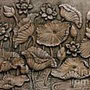 Low Relief Cement Thai Style  Art Print