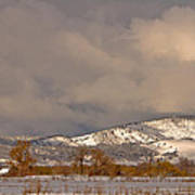 Low Winter Storm Clouds Colorado Rocky Mountain Foothills 2 Art Print