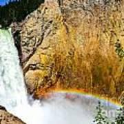 Lower Falls Rainbow Le Art Print