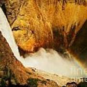 Lower Falls Yellowstone River Art Print