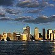 Lower Manhattan At Sunset, Viewed From Art Print