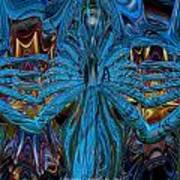 Lsd Neon Flower Fx  Art Print