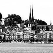 Lucerne In Monochrome Art Print