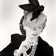 Lucille Ball Models A Unique Hat Art Print by Everett