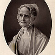 Lucretia Coffin Mott.  F. Gutekunst Art Print by Everett