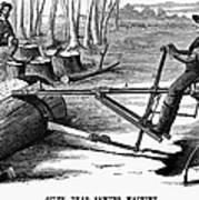 Lumbering: Saw, 1879 Art Print