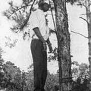 Lynched African American Man Hanging Art Print