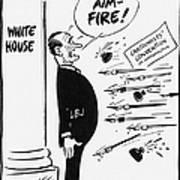 Lyndon B. Johnson: Cartoon Art Print by Granger