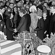 Lyndon Johnson Funeral. President Nixon Art Print by Everett