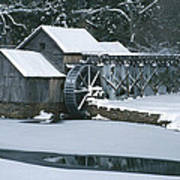 Mabry Mill Winter Art Print