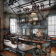 Machinist - Steampunk - The Contraption Room Art Print