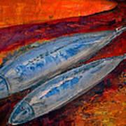 Mackerels In The Sunset Art Print by Aquira Kusume
