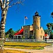 Mackinac Point Light Art Print