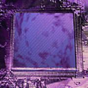 Macrophotograph Of An Intel Computer Microchip Art Print