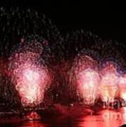 Macy's Fireworks On The Hudson Art Print