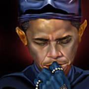 Mad Men Series 1 Of 6 - President Obama The Dark Knight Art Print